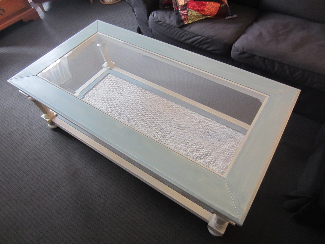 Shabby chic glass top coffee table casa9 for White and glass coffee table